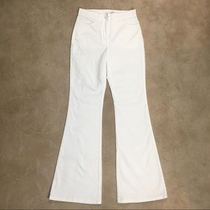 Babaton White Flare High Rise Soft Jeans 2
